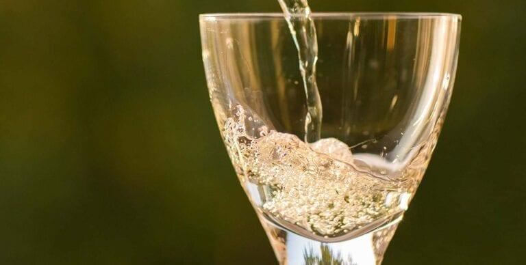 Glass of Moscato d'Asti white wine
