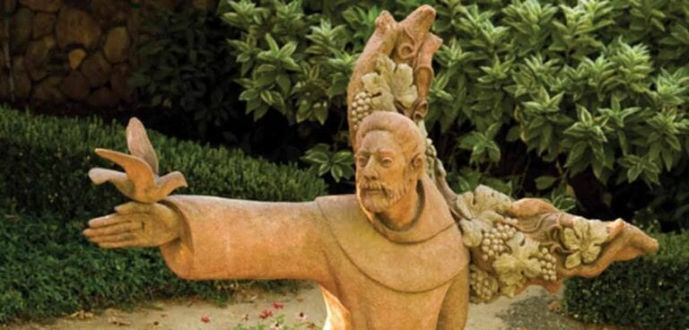 Statue of Saint Francis of Assisi at the St. Francis Winery in Sonoma, California