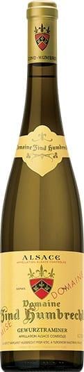 Domaine Zind-Humbrecht Gewurztraminer white wine bottle from Alsace, France
