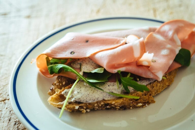 Mortadella sandwich