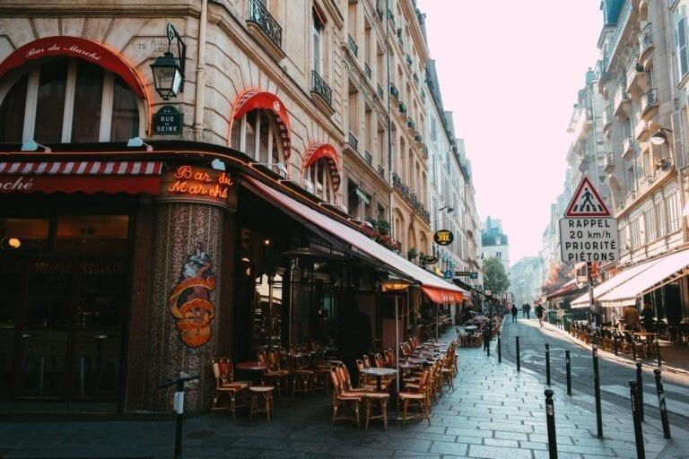 Parisian streets and cafe. Photo by Caleb Maxwell.