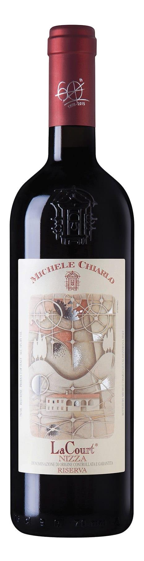 Red wine bottle, Barbera Nizza, Michele Chiarlo, Italian, Piedmont