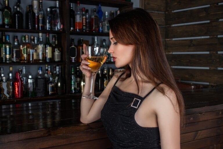 girl tasting wine, wine tasting