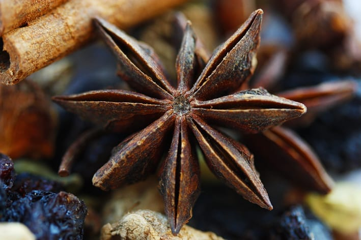 Mulled wine spices, star anise. Photo by Puno 3000, Creative Commons