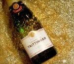 Champagne Taittinger, glitter, New Year's bottle, sparkle