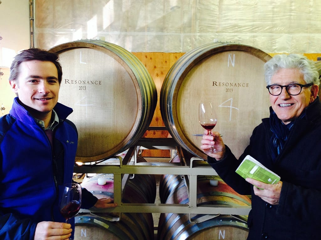 Thibault Gagey, Head of Operations, and Jacques Lardière, Winemaker for Resonance