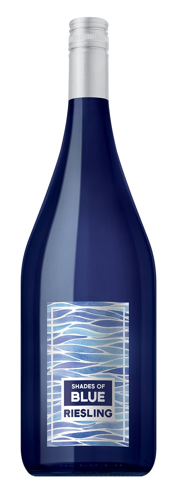 Shades of Blue, wine bottle, riesling