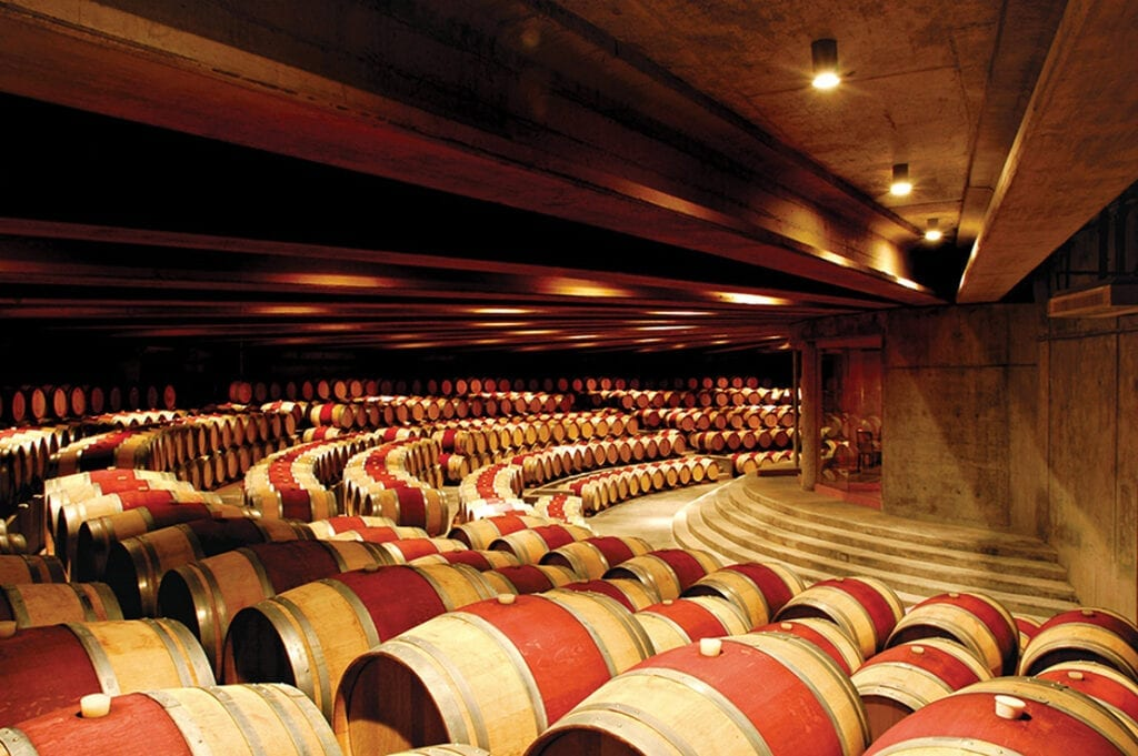 Montes Winery - barrel room - Chile