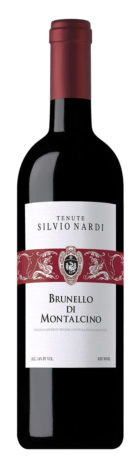 Brunello wine bottle red wine