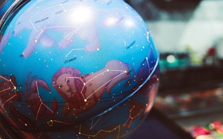 Nastya Dulhiier. Zodiac globe, constellation, stars, horoscope. Photo from Unsplash
