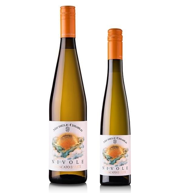 Michele Chiarlo Nivole dessert wine from Piedmont Italy full size and half-bottle sizes