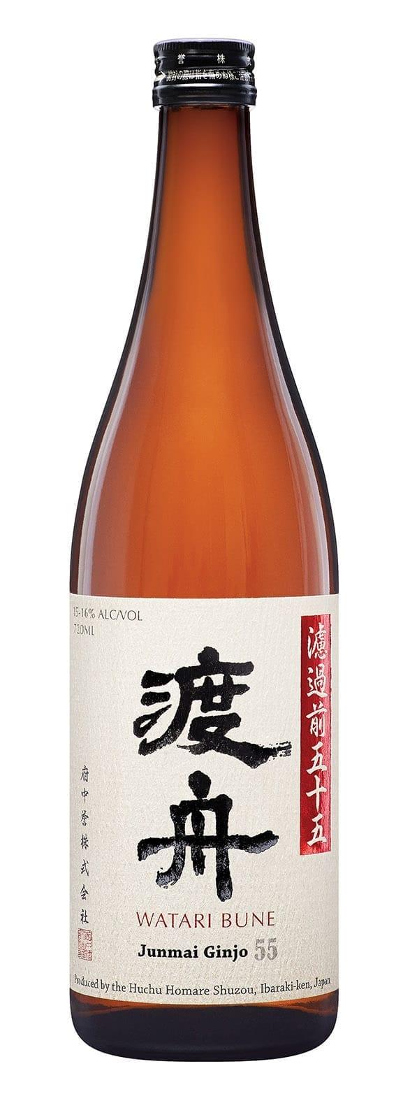 Watari Bune sake bottle